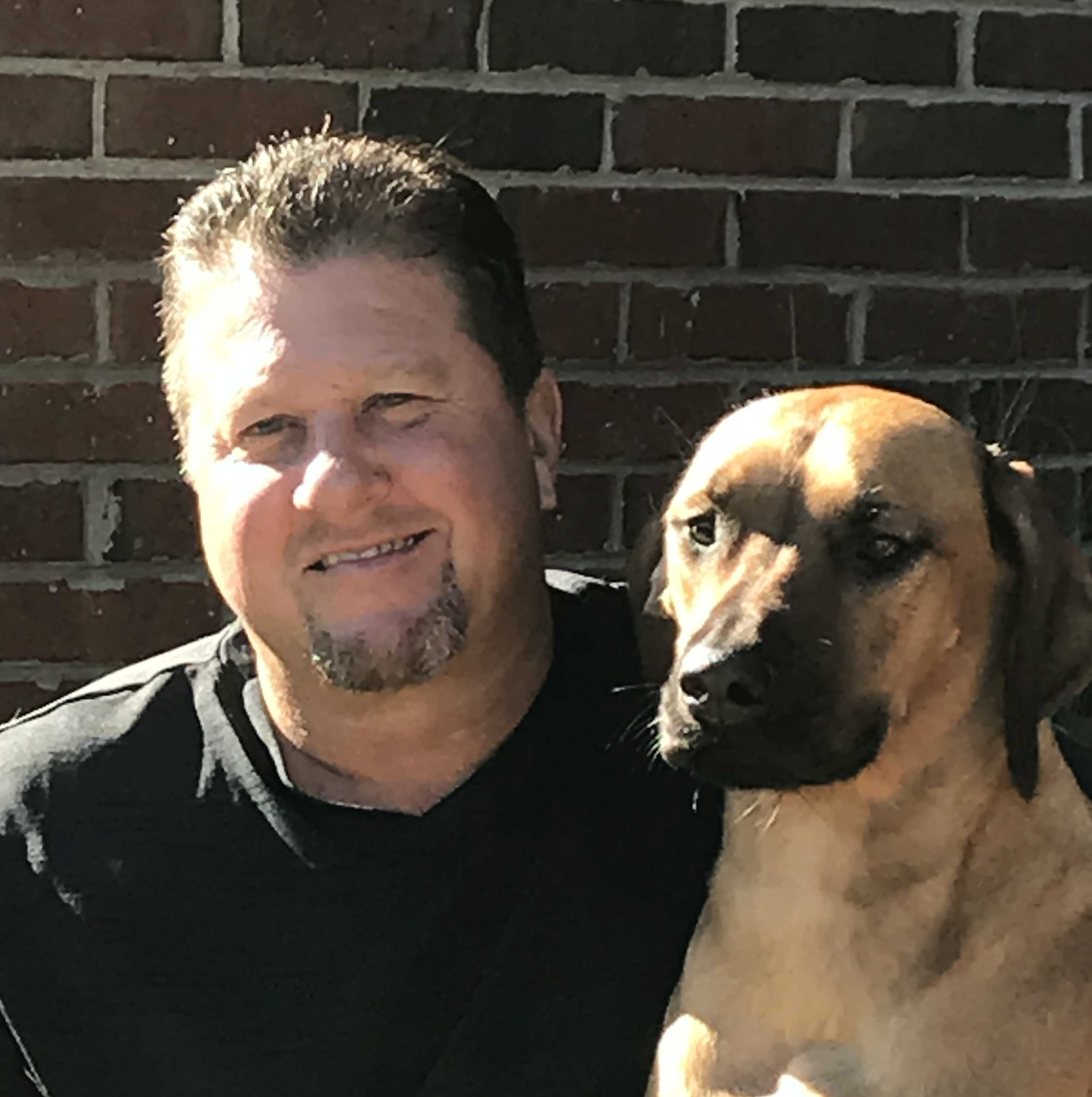 Drainage First owner with dog in Atlanta
